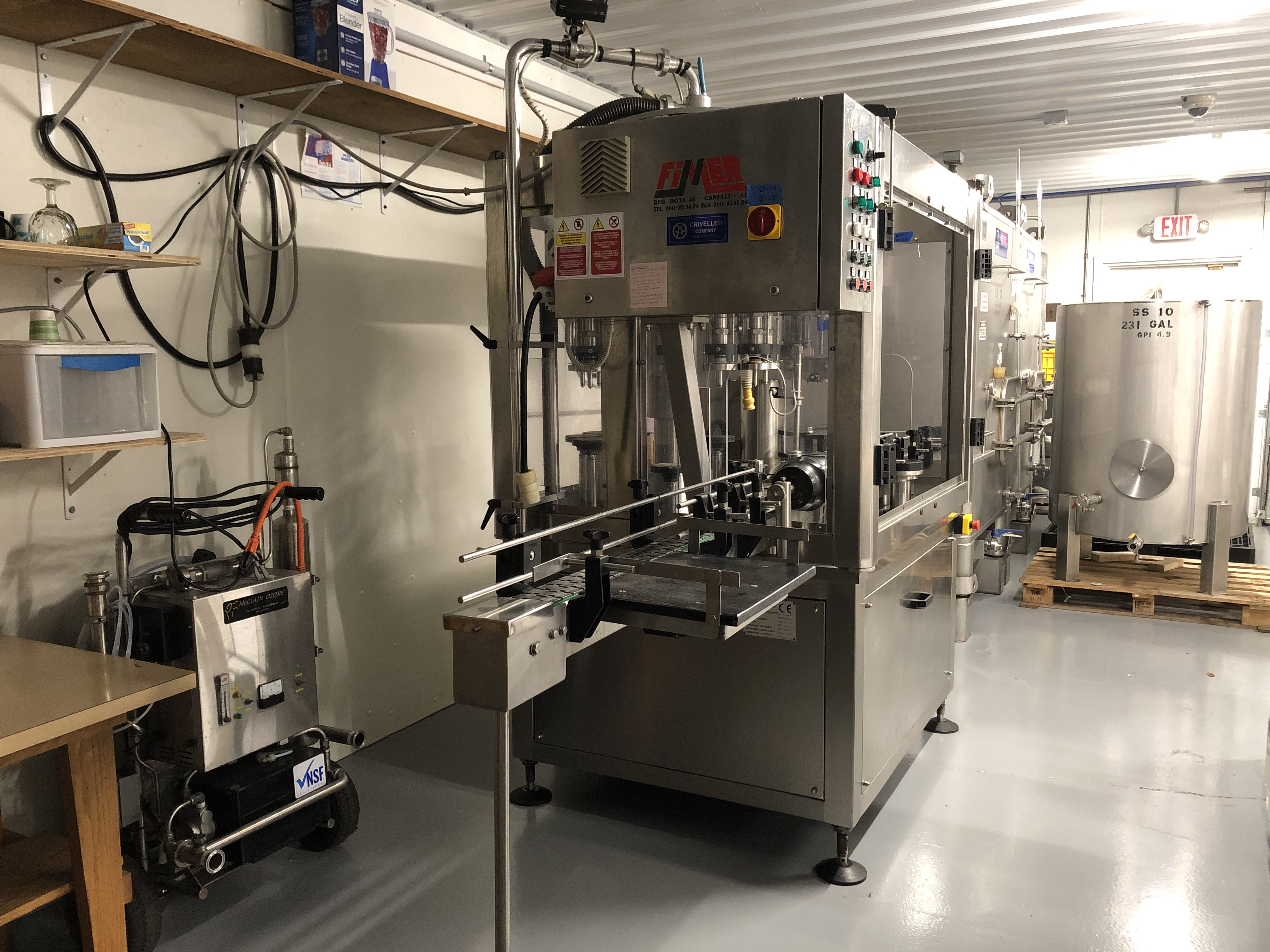 Conneaut Cellars wine bottling equipment shown